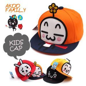 子供用 AKOO FAMILY キッズ帽子 キャラクター SNAPBACK CAP kids スナップバッグ 帽子 ヒップホップ ダンス hip pop 帽子 キャップ pancoat