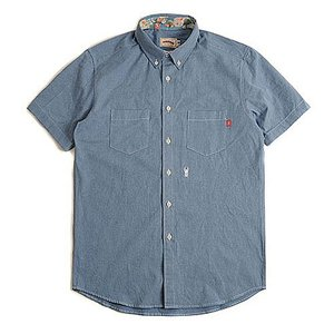 CRITIC STAG BEETLE HARF SHIRTS BLUE シンプルシャツ カジュアルシャツ ストリート系ファッション メンズ レディース ヒ|pancoat