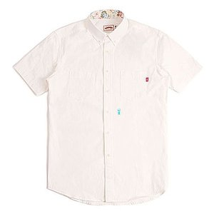 CRITIC STAG BEETLE HARF SHIRTS WHITE シンプルシャツ カジュアルシャツ ストリート系ファッション メンズ レディース ヒ|pancoat