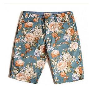 CRITIC Floral pattern shorts blue 花柄ショートパンツ アメカジショートパンツ 花柄パンツ ストリートファッション系 レ|pancoat