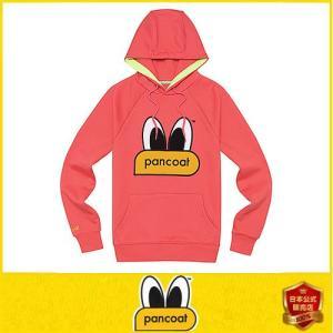 POPEYES HOODY E-1 FP HOT CORAL PINK Pancoat トレーナーフードT アヒル フード付き 冬 Tシャツ パーカー 長袖 HO パンコート|pancoat