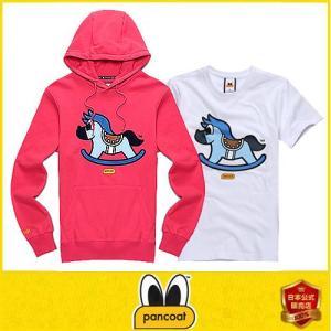 限定商品 POPHORSE LIMITED HOODY A-1 FP HOT CORAL PINK フードt+tシャツセット トレーナーフードT アヒル フー パンコート|pancoat