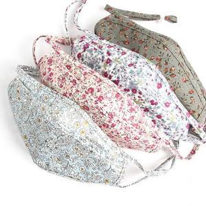 マスク 韓国製 大人用 花柄 立体 布 可愛い 水洗い おしゃれ 二重ガーゼ 2重ガーゼ 花粉対策 布マスク|pancoat