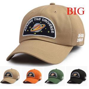 ロゴ ベースボールキャップ XL 大きいBIG メンズ レディース キャップ 帽子  ヒップホップ ストリート系 ローキャップ 男女兼用 宇宙 土星 space Saturn|pancoat