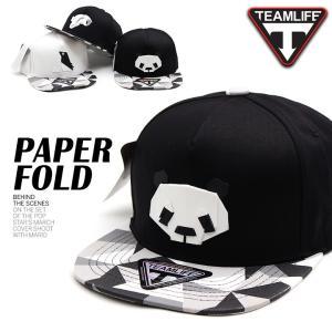キャップ レディース メンズ 帽子 PAPER FOLD パンダ ペンギン スナップバックキャップ SNAPBACK ストリート ヒップホップ ダンスウエア ストリート系|pancoat