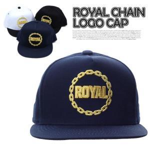 ROYAL CHAIN LOGO 3色 CHAIN 刺繍 ロイヤル キャップ ロゴ パッチキャップ 帽子 キャップ レディース メンズ ベーシック スナップバック キャ|pancoat
