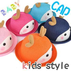 子供用 KIDS Deer ディアー ボーラー帽 ハット ディアー耳 ギャングスター キャラクター 帽子 キャップ cap 子供の可愛いキャ pancoat