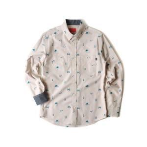 CRITIC クリティック OUTDOOR STUFF SHIRT BEIGE カジュアルシャツ 配色 フードバイエアーファン必見 ヘビーローテ定番 柄 pancoat