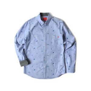 CRITIC クリティック OUTDOOR STUFF SHIRT BLUE カジュアルシャツ 配色 フードバイエアーファン必見 ヘビーローテ定番 柄|pancoat