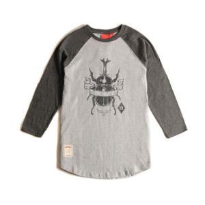 CRITIC クリティック BEETLE 3 4 TEE CHARCOAL カジュアルシャツ フードバイエアーファン必見 ロゴ アメカジ系tシャツ ス|pancoat