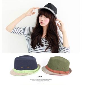 vintage Linen Fedora 選べる4色展開 ハット 中折れ帽子 フリーサイズ 帽子 カンカン帽 キャップ cap メンズ レディース ストローハ|pancoat