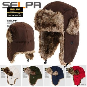 SELPA 帽子 メンズ レディース ファー 防寒帽 帽子 耳あて付き帽子 ロシア帽子 スキー パイロットキャップ 冬 耳付きキャップ レディース メンズ ハット 冬 帽子|pancoat