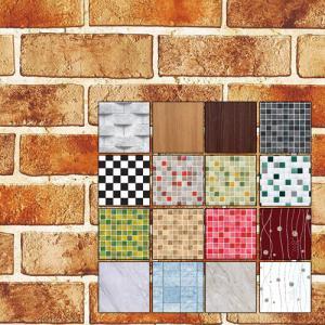 シール式 壁紙 1m単位 のり付 壁紙 幅50cm シールタイプ ウォールステッカー 木 壁紙 賃貸 無地 木目 レンガ 北欧 白 DIY|pancoat