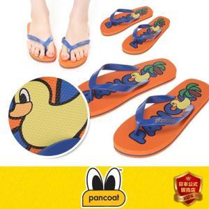 Pancoat パンコート アヒル 靴 sandal サンダル POPDUCK Pancoat LOGO PRINT FLIP FLOP GRAPEFUIT ORANGE キャラクター パンコート|pancoat