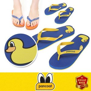 Pancoat パンコート アヒル 靴 sandal サンダル POPDUCK PRINT FLIP FLOP TRUE BLUE キャラクター ビーチサンダル 夏 海 パンコート|pancoat