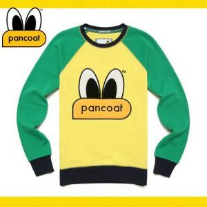 Pancoat パンコート キャラクター トレーナー 長袖 POPEYES RAGLAN CREWNECK PINE YELLOW クルーネック Tシャツ 長袖 ト パンコート|pancoat
