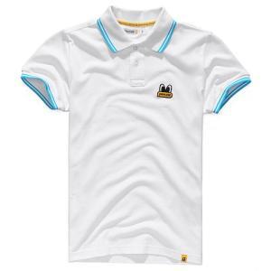 Pancoat パンコート ポロシャツ キャラクター T-シャツ 11POPEYES PK SHIRTS WHITE 半袖 夏 Tシャツ メンズ レディース パンコート|pancoat