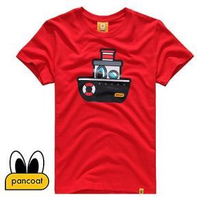 Pancoat パンコート キャラクター T-シャツ POPSHIP T-SHIRTS TOMATO RED 半袖 夏 Tシャツ メンズ レディース パンコート|pancoat