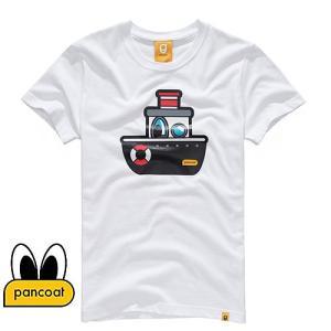 Pancoat パンコート キャラクター T-シャツ POPSHIP T-SHIRTS WHITE 半袖 夏 Tシャツ メンズ レディース パンコート|pancoat