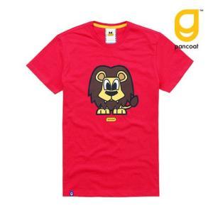Pancoat パンコート キャラクター T-シャツ POPLION T-SHIRTS LOLLIPOP RED 半袖 夏 Tシャツ メンズ レディース パンコート|pancoat
