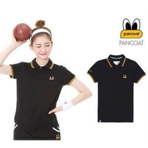 PANCOAT パンコート ブラック ポロシャツ PKシャツ キャラクター T-シャツ T-SHIRTS 半袖 夏 Tシャツ Sサイズ|pancoat
