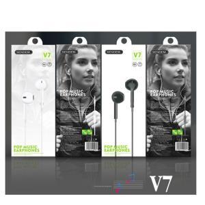 V7 スマートフォン イヤフォン ボリューム イヤホン android Iphone マイク付き 高音質 マイク付 アンドロイド かわいい ヘッドホン 3.5mm イヤホンジャック|pancoat