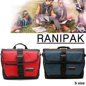 RANIPAK Sサイズ blue red かばん メッセンジャーバッグ アウトドア ショルダーバック ショルダー|pancoat