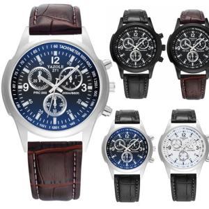 YAZOLE 腕時計 ビジネス メンズ ファッション ブルーガラス 男性 ウォッチ 父の日 ギフト プレゼント