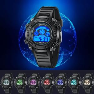 ファッション男性 スポーツウォッチ スポーツ腕時計 ランニングウォッチ 腕時計 LED デジタル カ...