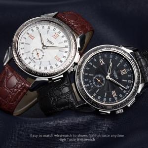 YAZOLE 腕時計 ビジネス メンズ ファッション ブルーガラス 男性 ウォッチ 父の日 ギフト ...
