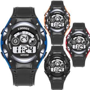 COOBOS デジタル 腕時計 ブランド LED ディスプレイ 30M 防水 ランニングウォッチ スポーツウォッチ|pancoat