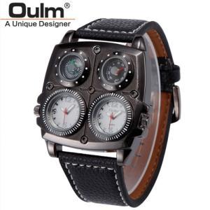 4フェイス腕時計 ファッション男性 メンズウォッチ メンズ ウォッチ 腕時計 アナログ カジュアル ビッグフェイス仕様 デザイン 時計 Oulm|pancoat