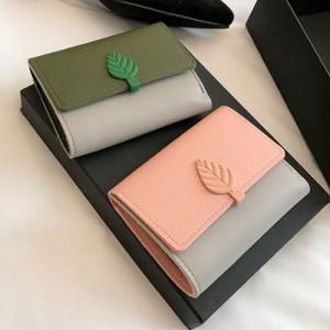 レディース財布 二つ折り財布 素敵なミニ財布 財布 女性用 ウォレット ショート財布 札入れ カード ケース コイン コンパクト 可愛い ガールズ 女の子 葉 pancoat