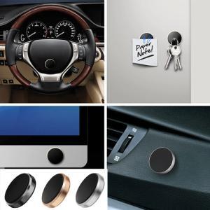 カラー:ブラック  マグネット固定式 車載ホルダー スマートフォン 車載ホルダー マグネット式 車載...
