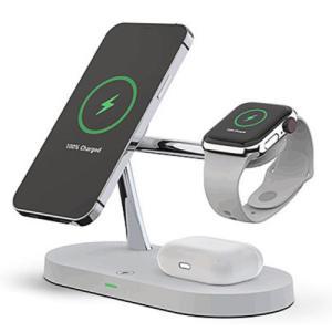 ワイヤレス充電器 4in1 チャージ 充電 マルチ ステーション Qi  アンドロイド iPhone Micro Type-C 急速 apple watch airpods  充電 急速充電 置くだけ|pancoat