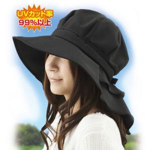 UV対策 首筋まですっぽりロングケープ帽子 ブラック ベージュ レディース ファッション UVカット   紫外線対策 夏 首 首周り 日よけ  日焼け防止キャンプ pancoat