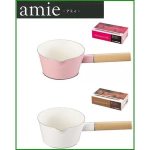 パール金属 アミィ ホーローミルクパン15cm ホワイト・HB-800|b03