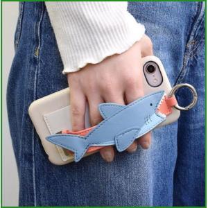 スマホケース バンド付きケース サメ ベージュ iPhone8/7/6s/6/SE対応 SCC8025-BE|b03|pandafamily