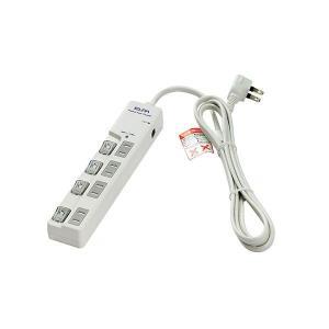 ELPA(エルパ) 耐雷サージ LEDランプ スイッチ付タップ(ブレーカー付・上差し) 2m 4個口...