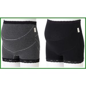 犬印妊婦帯 ガードルタイプ らくばきパンツ妊婦帯 マタニティL HB8363 B・ブラック|b03