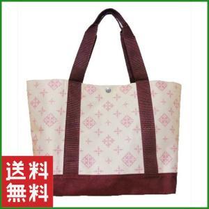 Springオリジナル雑誌付録 ナチュラルカラーモノグラムトートバッグです。淡いピンクとワインレッド...