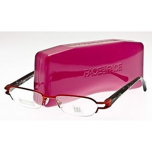 メガネ 眼鏡 めがね フレーム ファース ア ファース FACE A FACE PATCH 1 Eyeglasses Frame Titanium Red Satin-Crystal Black UM01 50mm|pandastore