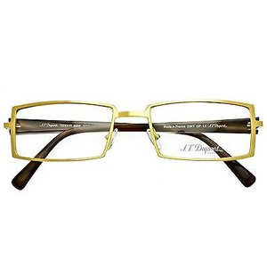 メガネ 眼鏡 めがね フレーム スタルク S.T. DUPONT EYEGLASS FRAME 23KT GP Brushed Yellow Gold D233/20 6056 53mm|pandastore
