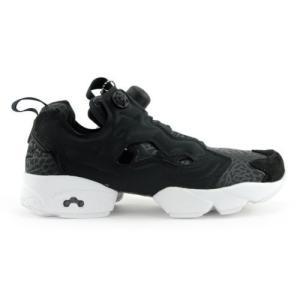 運動靴 リーボック Reebok Women's Instapump Fury Gallery Black/White Shoes V70812 NEW!|pandastore