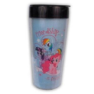 マグ コースター マイリトルポニー My Little Pony Rainbow Dash Licensed Plastic Travel Mug   18oz Acrylic Cup Set|pandastore