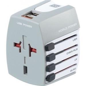 旅行用アダプター 変換器 ゴートラベル Go Travel Worldwide USB White 402 pandastore