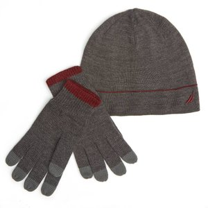 フットボール NFL ノーティカ Nautica メンズ Gラブ Hat Gift SetPINK BLUSH|pandastore