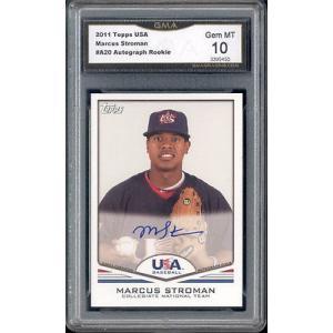 海外セレクション 野球 ベースボール メジャーリーグ カード20141 Marcus Stroman Topps USA Auto Autograph  Rookie Gem ミント 10 #A20|pandastore