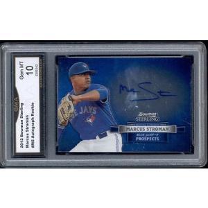 海外セレクション 野球 ベースボール メジャーリーグ カード2012 Marcus Stroman Bowman Sterling Auto Autograph  Rookie Gem ミント 10 #MS|pandastore