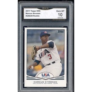海外セレクション 野球 ベースボール メジャーリーグ カード2011 Marcus Stroman Topps USA Baseball Rookie Gem ミント 10 #USA20|pandastore